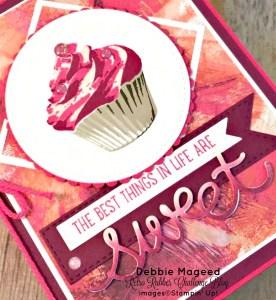 Fun Birthday Card featuring #SweetCupcake, #Cupcakecutouts, #PaintedwithLove, #StampinUp, #SecretStamper
