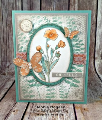 Butterfly Basics Makes a Beautiful Vintage Card for Retro Rubber