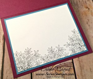 Beautiful Spring Card Featuring #WatercolorWings, #FlyingHome, #GardenImpressions, #AllOccasion, #Love, #SecretstoStamping, #StampinUp
