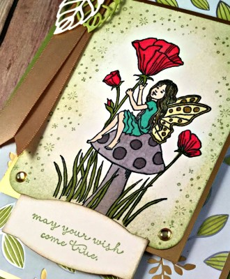 Whimsical Birthday Card Featuring #FairyCelebrations, #Birthday, #SecretsToStamping, #StampinUp