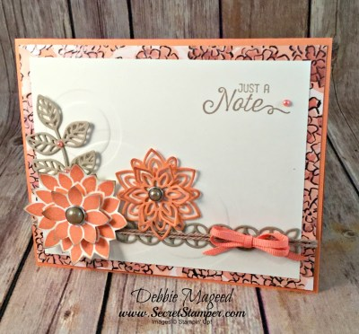 Texture by Embossing with Dies Using Guy Greetings and Flourishing Phrases