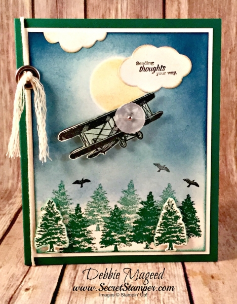 Fun Masculine Card Featuring #SkyIsTheLimit, #WhereverYouGo, #Masculine, #Congrats, #AllOccasion, #SecretsToStamping, #StampinUp