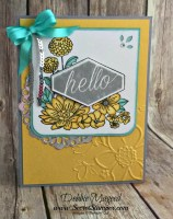 Lovely Accented Blooms to Send Healing Hugs for Hand Stamped Sentiments
