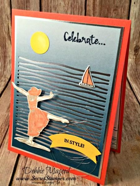 Relaxing Vacation Card Featuring #BeautifulYou, #LilyPadLake, #HighTide, #Birthday, #Summer, #LakesideFramelits, #SecretsToStamping, #StampinUp