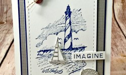 Masculine Nautical Card featuring #CoastToCoast, #BeautifulBeach, #Nautical, #Lighthouses, #SecretsToStamping, #StampinUp