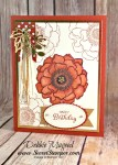 Autumn Floral Card Featuring #Blended Blooms, #Birthday, #SecretsToStamping, #StampinUp