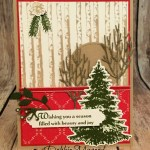A Still Night in the Winter Woods for Hand Stamped Sentiments