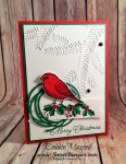 Easy Christmas Card featuring #BestBirds, #BlendedSeasons, #Christmas, #Holiday, #SecretsToStamping, #StampinUp