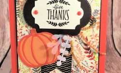 Thanksgiving Card Featuring #LabelsToLove, #PatternedPumpkinsThinlits, #StitchedSeasons, #Thanksgiving, #Holiday, #SecretsToStamping, #StampinUp