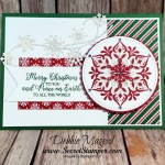 Happiness Surrounds This Snowfall Christmas Card for Hand Stamped Sentiments
