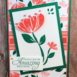Sweet Floral Birthday Card Featuring Bloom by Bloom Humming Along #Birthday #OccasionsCatalog #SecretsToStamping #StampinUp