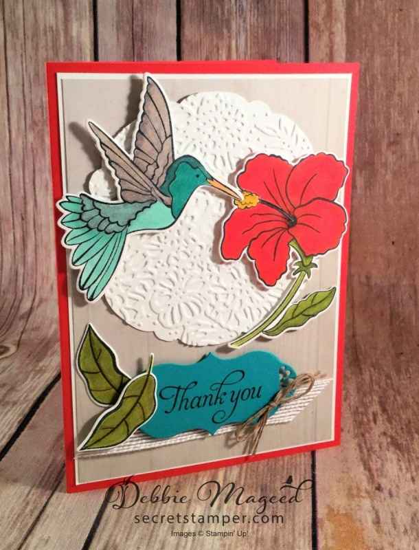 Thank You Card Featuring Humming Along Stamp Set