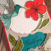 Just Humming Along with a Thank You Card for Cardz 4 Galz