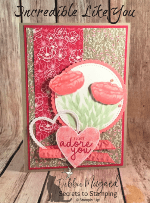 Learn how to make this card using the Incredible Like You stamp set and more! #DebbieMageed #SecretsToStamping #Valentines