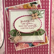Using Needle & Thread to Make a Lovely Card for the Make My Monday Challenge