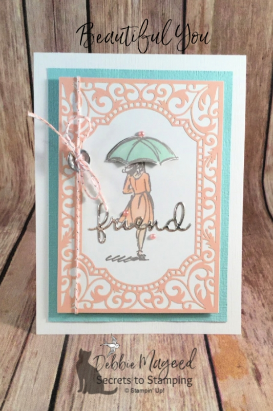 Lovely Friendship Card Using Beautiful You Stamp Set by Stampin' Up!