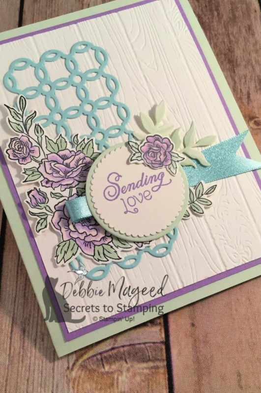 Beautiful Spring Card Featuring Climbing Roses by Stampin' Up!