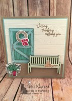 Cute Sitting Pretty Card Idea for the Hand Stamped Sentiments