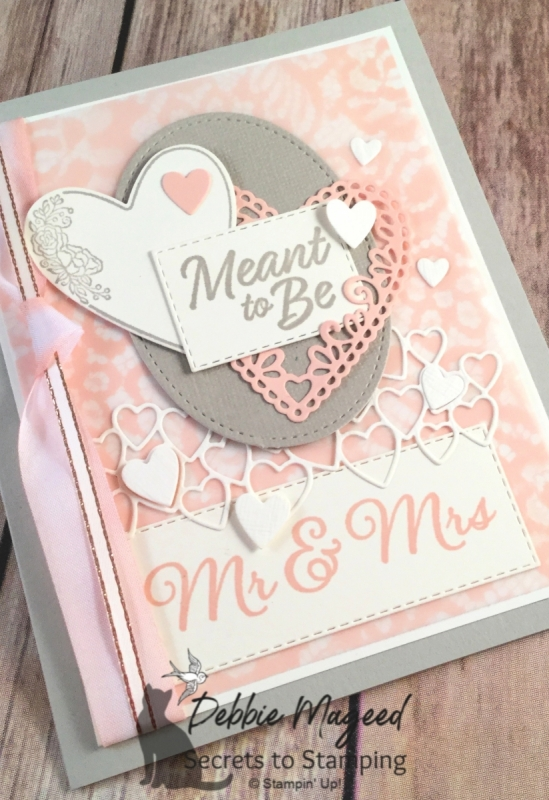 Sweet Wedding Card Featuring To Have & To Hold and Meant to Be Stamp Sets by Stampin' Up!