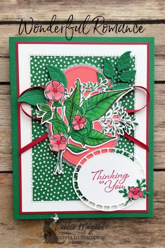 Pretty Spring Card Featuring Wonderful Romance Stamp Set by Stampin' Up!
