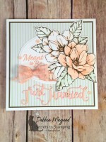 Good Morning Magnolia Wedding Card for the Sisterhood of Crafters