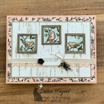 Pretty Free As A Bird Card for Hand Stamped Sentiments
