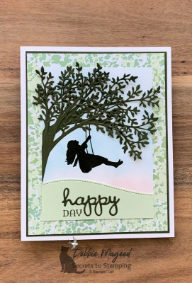 Summer Fun Card with Silhouette Scenes for Cardz 4 Galz