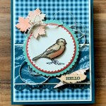 Autumn Card with Free As A Bird for Hand Stamped Sentiments