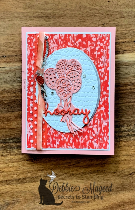 Festive Birthday Card Using Well Written Dies by Stampin' Up!