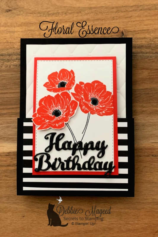Fun Fold Card Featuring Floral Essence Stamp Set by Stampin' Up!