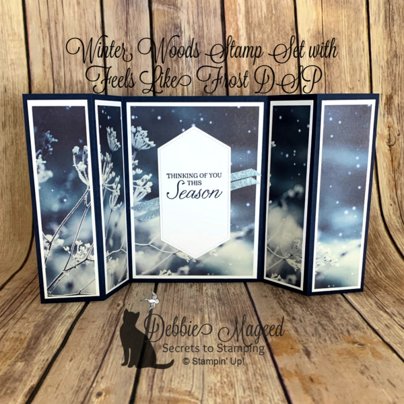 Fun Fold Card Featuring Winter Woods Stamp Set by Stampin' Up!