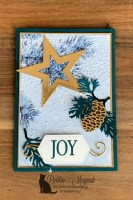 Stitched Stars Dies Holiday Card for Hand Stamped Sentiments