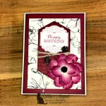 Floral Birthday Card is Layered With Kindness for the Alphabet Challenge