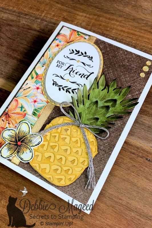 Friendship Card Featuring Timeless Tropical Stamp Set by Stampin' Up!