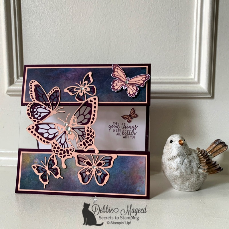 Fun Fold Card Featuring Butterfly Gala Stamp Set by Stampin' Up!