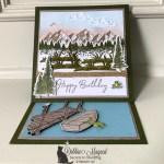 Masculine Mountain Air Birthday Card for Fun Fold Friday