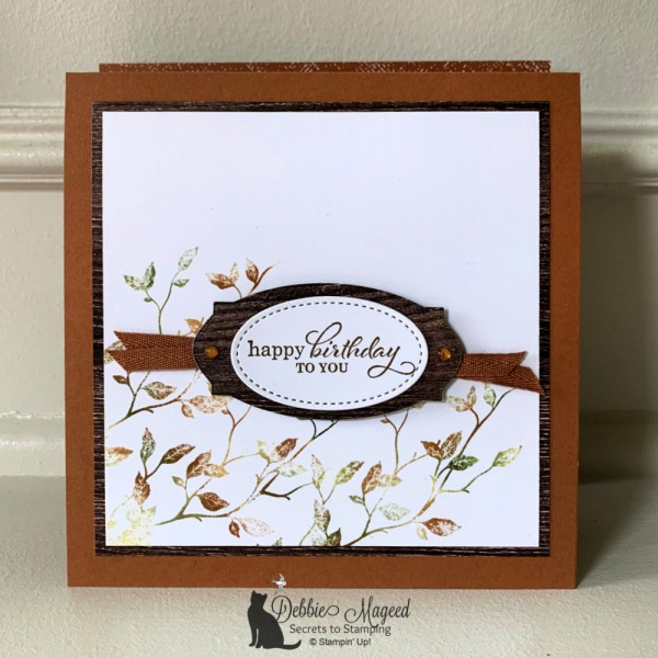 Beautiful birthday easel card featuring Very Versailles by Stampin' Up!