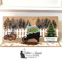 Slimline Easel Card with Autumn Goodness by Stampin