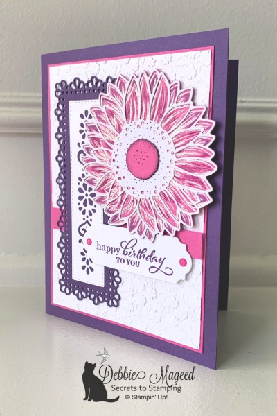 Cheerful Sunflower Birthday Card using Celebrate Sunflowers by Stampin' Up!