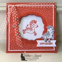 Fun Birthday Card Featuring Zany Zebras by Stampin