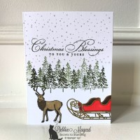 Holiday Card Featuring Wishes & Wonder Stamp Set by Stampin
