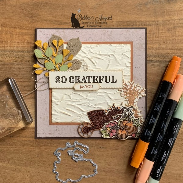 Thanksgiving Card Featuring Ornate Thanks Stamp Set by Stampin' Up!