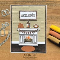 Holiday Card Featuring Fireside Trimmings by Stampin
