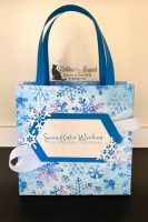 Make a Snowflake Wishes Gift Bag to Coordinate with Holiday Card