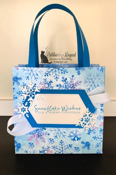 Gift Bag Featuring Snowflake Wishes by Stampin' Up!