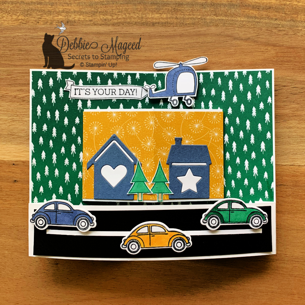 Coming Home With a Fun Fold Card for the Alphabet Challenge