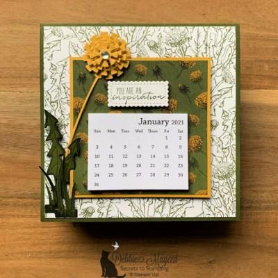 Dandy Garden Calendar Cards in My Dragonfly Garden for the Pals Blog Hop