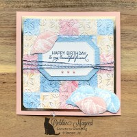 Friends Are Like Seashells Birthday Card for the Sisterhood of Crafters