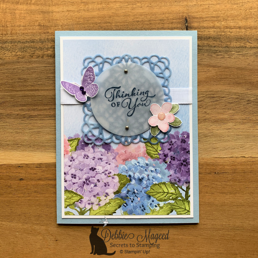 Hydrangea Hill All Occasion Card for the Alphabet Challenge