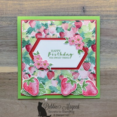 Sweet Strawberry Birthday Card with Blog Candy Offer for Cardz 4 Galz